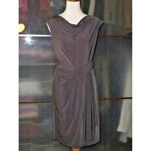 Suzi Chin Drape Cowl Neck Stretch Jersey Dress NEW
